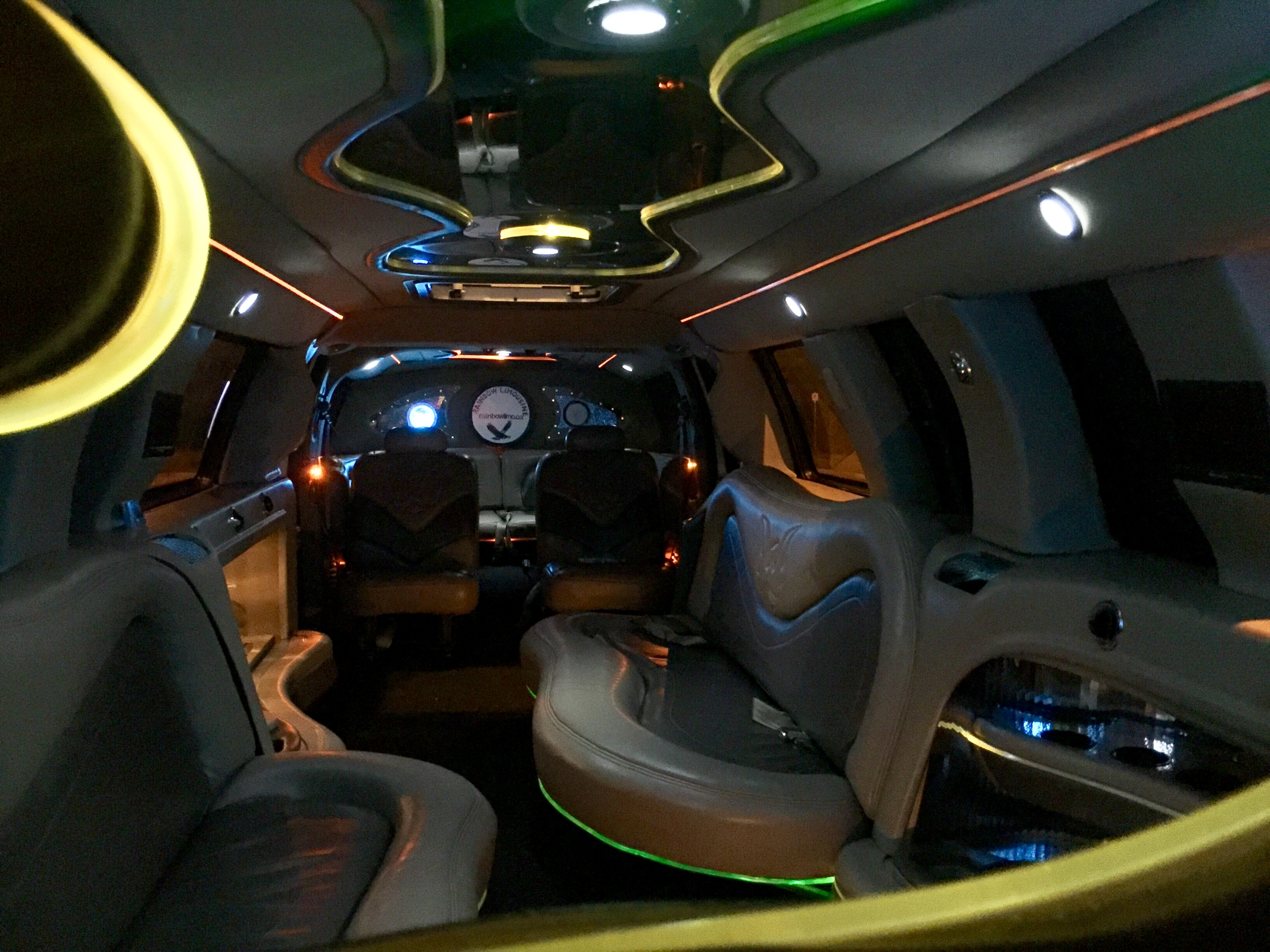 SUV limo inside